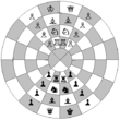 Representation of the starting position for citadel chess