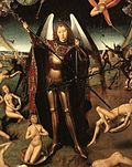 "Detail from ""The Last Judgement"" by Hans Memling"