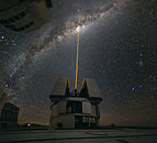 A group of astronomers were observing the centre of the Milky Way using the laser guide star facility at Yepun.