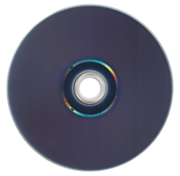 Reverse side of a Blu-ray Disc