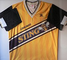Chicago Sting 1984-86 Home Jersey.