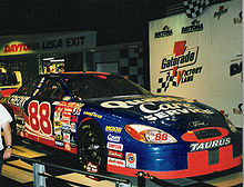 Dale Jarrett's 2000 pole and race winning car