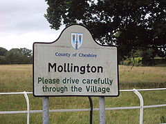 Sign, Mollington, Cheshire - DSC06892.JPG