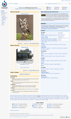 Screenshot of Wikimedia Commons