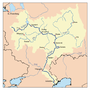Map of the drainage basin of the Volga.